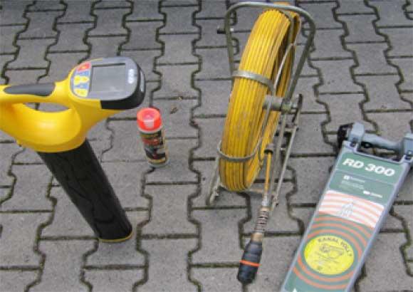 Rohr- und Kanal Reinigungdienst-Kanal-Ortung